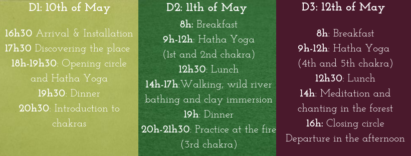 10th to 12th of May 2019: Yoga & The 5 elements – Chival – Yoga